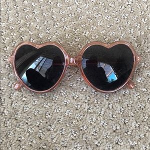 Urban Outfitters Pink Heart Sunglasses